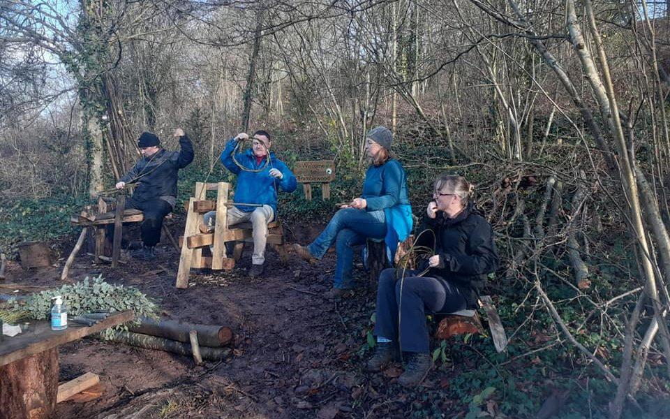 Wellbeing group crafting at Bramblewood