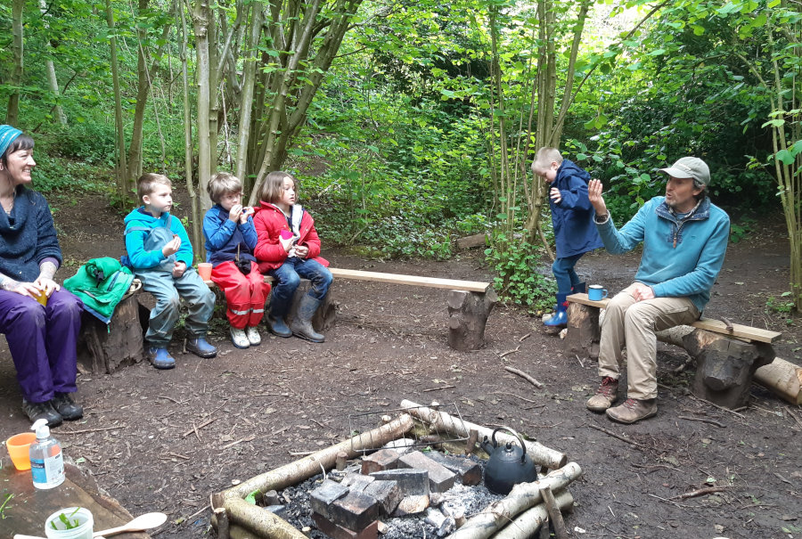 story telling at forest school